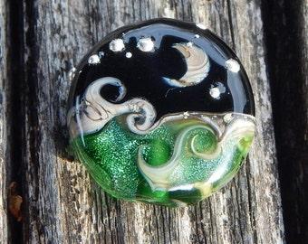 Emerald Ocean, Simply Lampwork by Nancy Gant, SRA G55