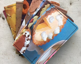 Slim Wallet- Vintage Cookbooks- Sweets- Food Photography