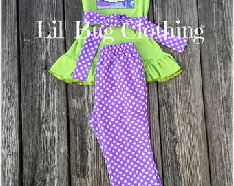 Princess Tiana Outfit, Princess Tiana Birthday Girl Outfit, Princess Tiana Pant & Top Outfit