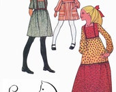 Vintage 1970s Girls Empire Dress in Two Lengths Two Tiered Skirt Sewing Pattern McCalls 2920 70s Sewing Pattern Size 4