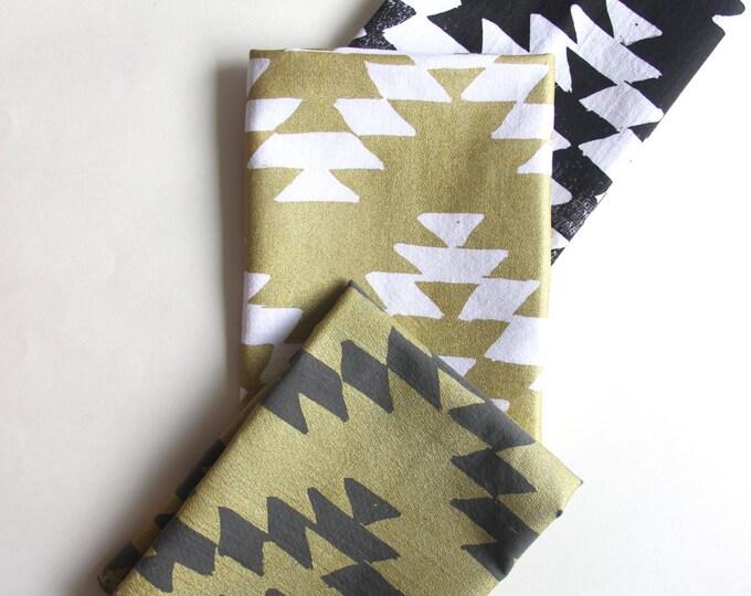 Hand Printed Aztec Design Napkins
