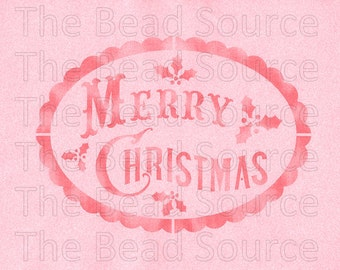 Merry Christmas Stencil, Holly Berries Stencil, Christmas Stamp, Mylar Stencil, Painting Stencil, pochoir, art supply stencil, Christmas DIY