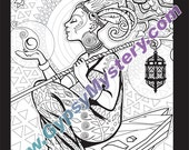 Single Coloring Page - Lightbringer from the Magical Beauties Collection - Download, Print & Color!