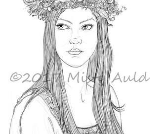 The Seelie Queen~Faerie~ Fantasy Art~ Digital Download
