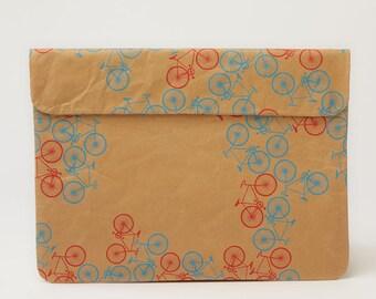 City Bikes Pattern Laptop Paper Sleeve