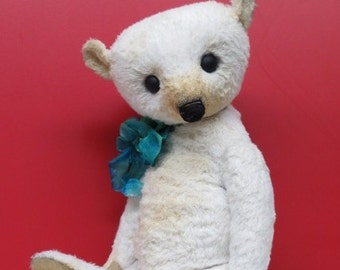 "Artist Bear Well Loved Teddy Bear 12"" OOAK By Kim Endlich"