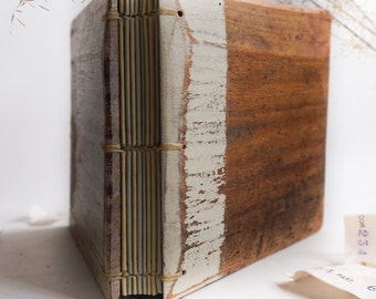 Wood diary from reclaimed wood