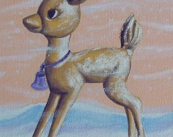 Little Gold Deer Oil Painting
