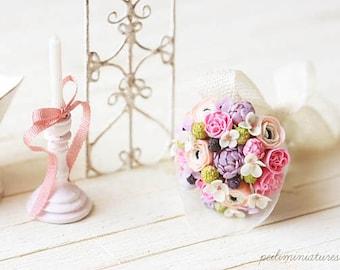 Dollhouse Miniature Bouquet - Spring Morning - Dollhouse Flowers