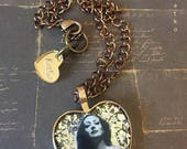 Joan Crawford Heart Pendant Necklace