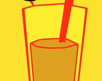Coffee Milk   Art Print by Giraffes and Robots
