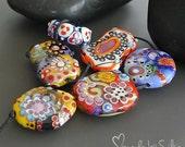 Reserved listing for K.      Handmade lampwork beads      Destash     Orphans    set       artisan glass      made by Silke Buechler