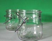Vintage Glass Ball Jars / Wide Mouth Ball Jars / Vintage Glass Jars / Vintage Ball Jars / Vintage Vase / Ball Jar / Wedding Decor