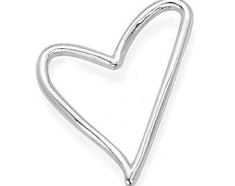 Heart- Handmade Sterling Silver Heart Pendant
