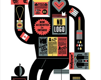 "1990s Canadian Creative History 13x22"" Art Print by Raymond Biesinger"