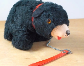 Vintage Stuffed Black Bear • Vintage Souvenir Stuffed Bear • Vintage Stuffie