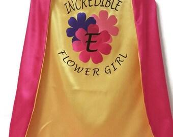 Superhero Cape - Flower Girl Gift  - Flower Girl Cape - Ring Bearer Gift - Ring Bearer Cape - Custom Flower Girl Gift - Unique Wedding Gift