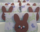 Easter Candy Bag Toppers, Chocolate Bunny  - Ready to Ship - Set of 6
