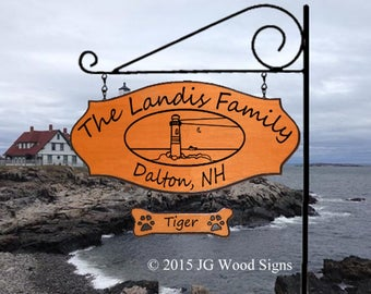 Personalized Beach Family Name Sign - Outdoor Name Sign Lighthouse Sign with Sign Holder - RV Name Sign - JGWoodSigns - Etsy Landis