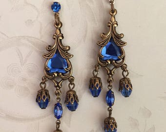 Titanic Jewelry Molly Brown's Blue Lifeboat Earrings