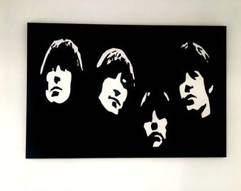 The Beatles Original Handpainted Framed Pop Art Canvas Painting