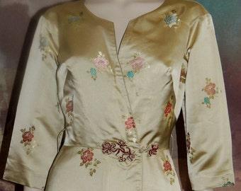 Vintage GUMPS San Francisco Oriental Silk Dressing Gown