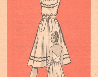 Mail Order 9205 1970s Misses Halter Wrap Sundress Pattern Marian Martin Womens Vintage Sewing Pattern Size 12 Bust 34 UNCUT