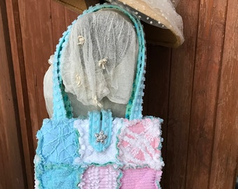 Soft Breeze Itty Bitty Chenille Fabric Purse