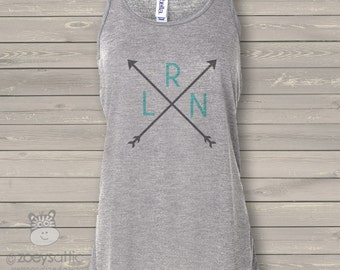 Arrow monogram flowy tank top - perfect for spring break and summer vacation AMFT