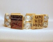 "BANNED BOOKS Bracelet / Book Lover Gift / ""Right to Read"" / Bookworm SCRABBLE Jewelry / Upcycled"