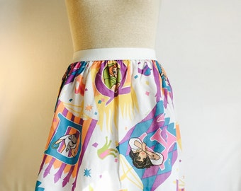 """Disney's Hunchback of Notre Dame Ladies Skirt from vintage upcycled fabric - 30""""-36"""" waist"""