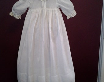 Antique Baby Infant Christening Baptism Long Dress Nightgown Special Occasion