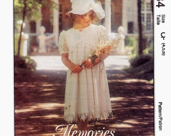 Girls Special Victorian Dress - Flower Girl, Easter -McCall's 8184 Sewing  Pattern - Vintage style dresses- US Sizes 4 -5 -6