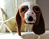 Wool Baby Basset Hound Hat - Reserved for Jessica