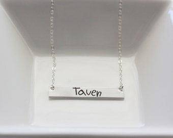 Children's Handwriting Necklace - Custom Handwriting Necklace Engraved Handwriting Gift for Mom Signature Necklace, Handwriting Engraving