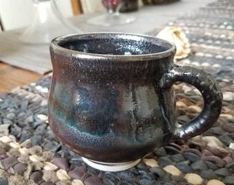 Small Galaxy Mug handmade stoneware End the Backlog