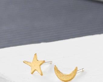 Luna Post Earrings, space earrings, signature earrings, space jewelry