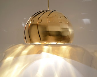 "Iris Pendant Light - 13"" Brass, on sale 20% off"