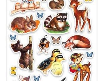 Stickers   Wildlife Animal Retro Planner Scrapbook Cardmaking