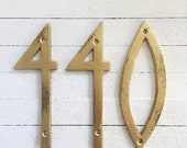 Modern House Numbers, Mid Century Modern Iron Decor, Cast Iron Numbers, Modern Style House Numbers, Wedding Numbers