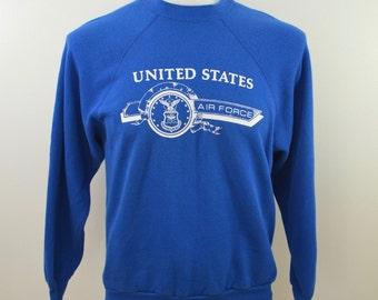 on sale Vintage United States AIR FORCE sweatshirt Artex Large 1980's USA made usaf