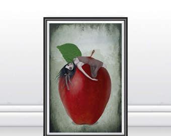 A3 Art Print - Large Print - Fairytale Art Print - Snow White - Death By Apple
