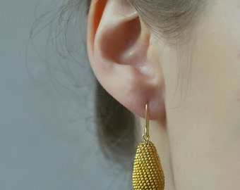dangle earrings matt gold filled drops ear dangles gold