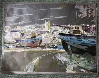 Vernon Ward foil print Low Tide