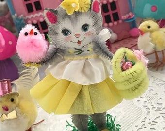 Vintage Inspired  SuGaR SwEeT Easter Kitschy Kitty Keepsake SPRINGTIME HUNT