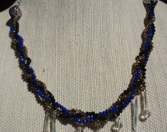 Artisan Wintery Necklace with Snowflakes