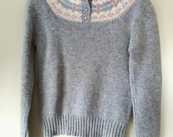 Aston Wool Sweater/Vintage Wool Sweater/Vintage Sweater/Pullover Sweater