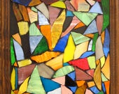 SOLD Stained Glass Mosaic