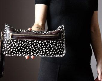 Leopard clutch, leopard cat clutch, leopard print clutch, leopard leather clutch, leather clutch, leopard purse, leather purse , cat clutch