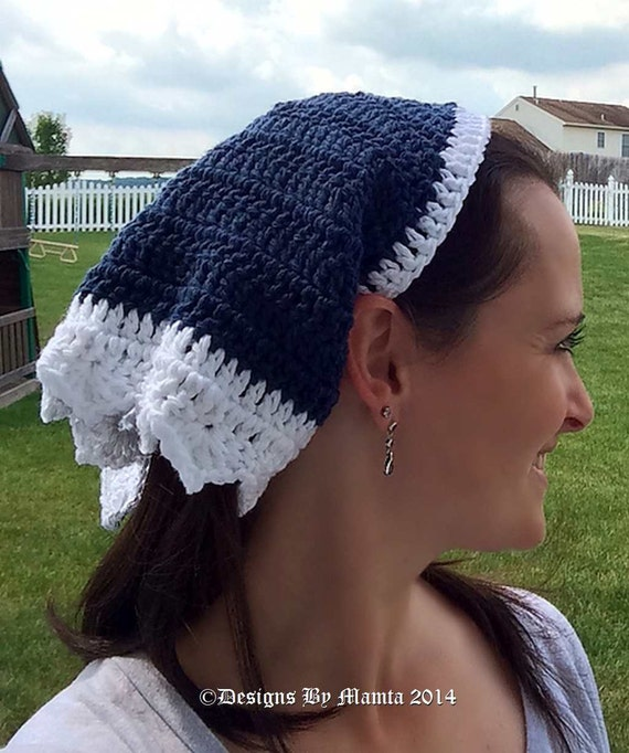 Gypsy Head Scarf Crochet Pattern Triangle Head Scarf Pattern